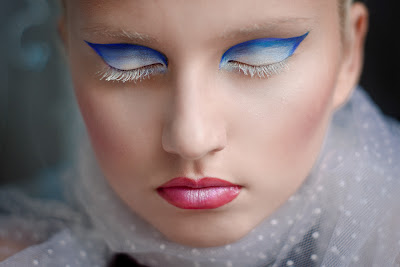 Blue white eyes, gorgeous makeup