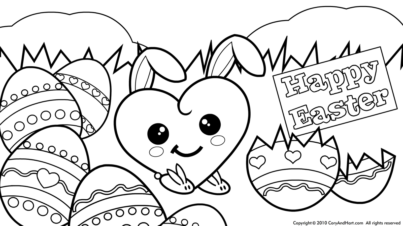 1000 images about hello kitty coloring pages on pinterest hello ... - Coloring Pages Kitty Easter