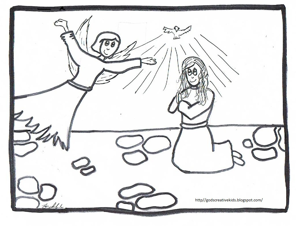 raychill's world the joyful mysteries~coloring pages~by