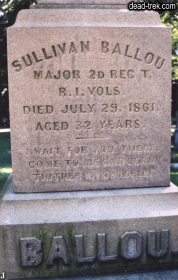 Down the road less traveled The Sullivan Ballou Letter