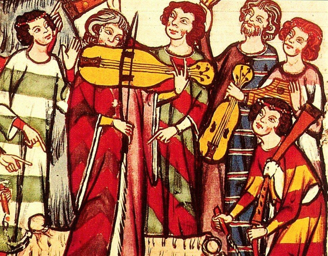 Музыка в средневековье картинки