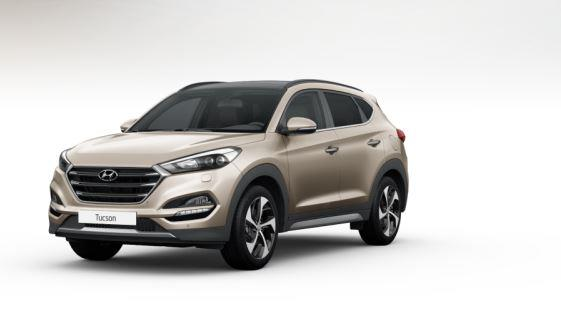 colori Nuova Hyundai Tucson 2016 Bianco Sabbia - White Sand frontale davanti