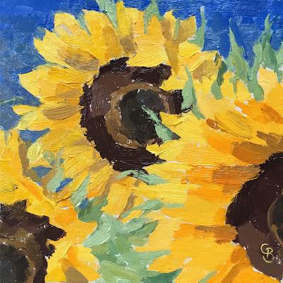 #86 'Sunflowers' 6×6″
