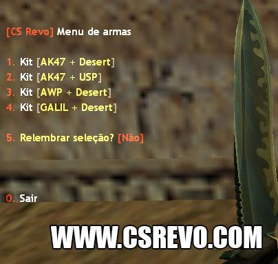 Plugin - Menu de Armas (Aparece todo inicio de Round), menu armas, menu guns, respawn