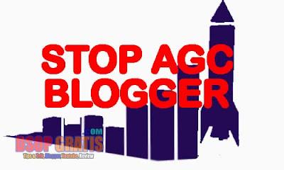 Cara Menghindari / Mengatasi Blog dari AGC