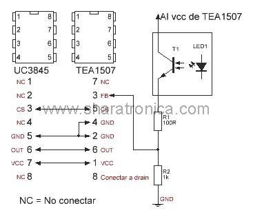UC3845 por TEA1507.