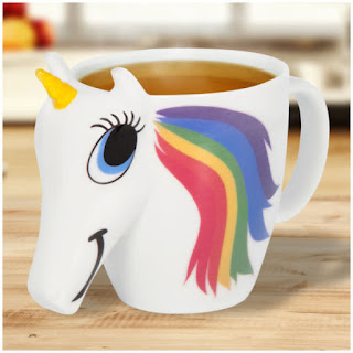 3d unicorn mug with rainbow mane