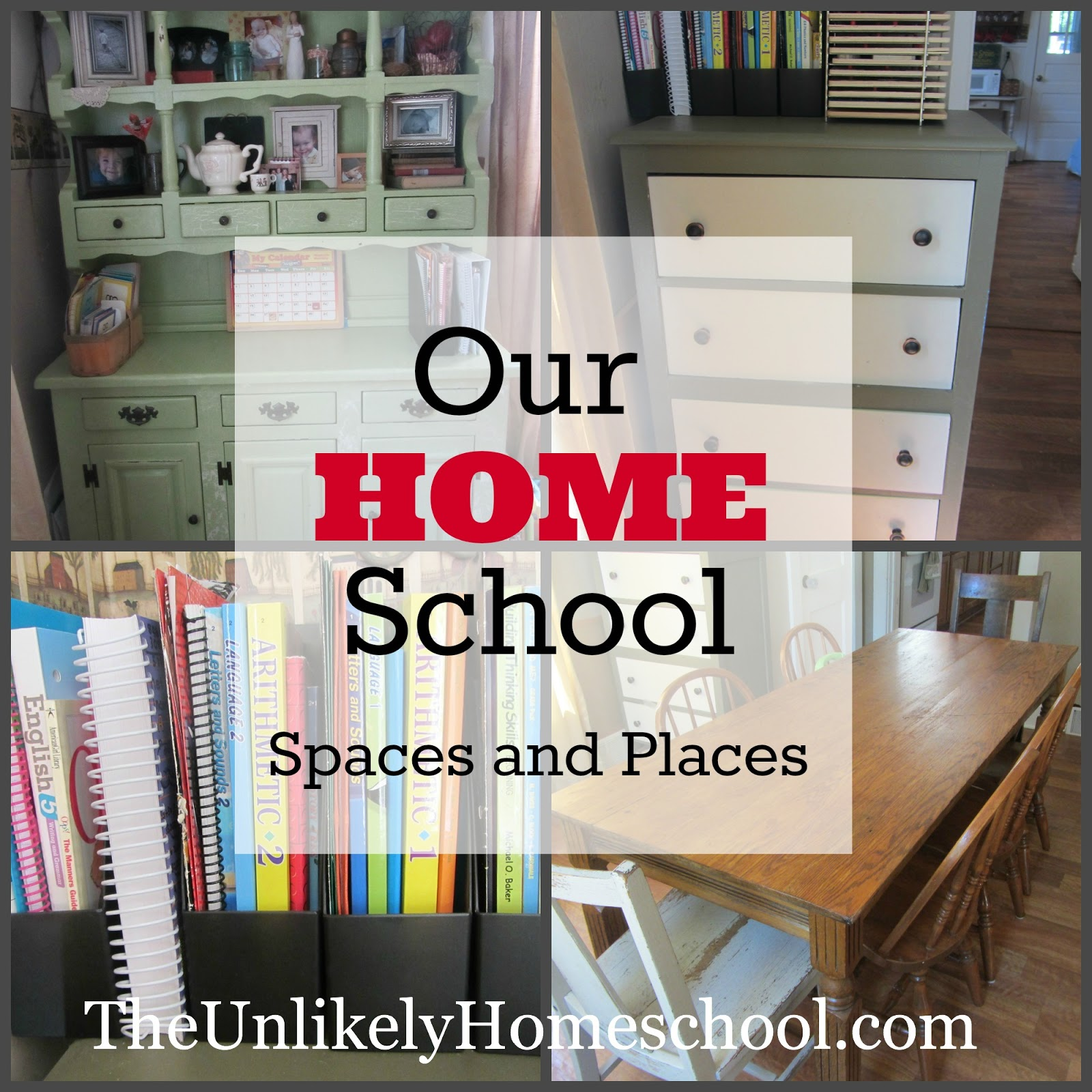 The Unlikely Homeschool: Our HOME School Places and Spaces 2013