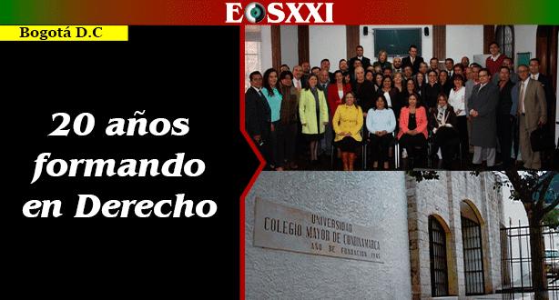 El programa de Derecho de la Universidad Colegio Mayor de Cundinamarca cumple 20 años