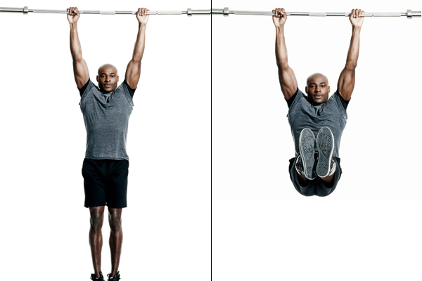 Abs (Abdominal Muscles) Hanging Leg Raise Or Knee Raise