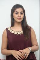 Nikki Galrani in a Brown Shining Sleeveless Gown at Nakshatram music launch ~  Exclusive 078.JPG