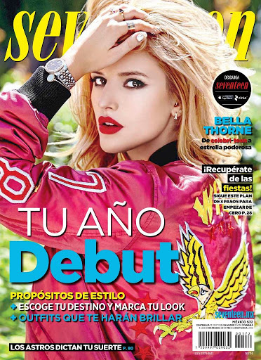 bella thorne beauty cover shoot models for seventeen magazine mexico