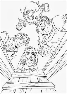 Rapunzel Tangled Coloring Pages