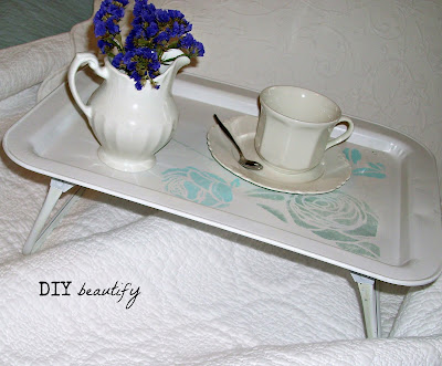 Vintage Tray Refresh www.diybeautify.com