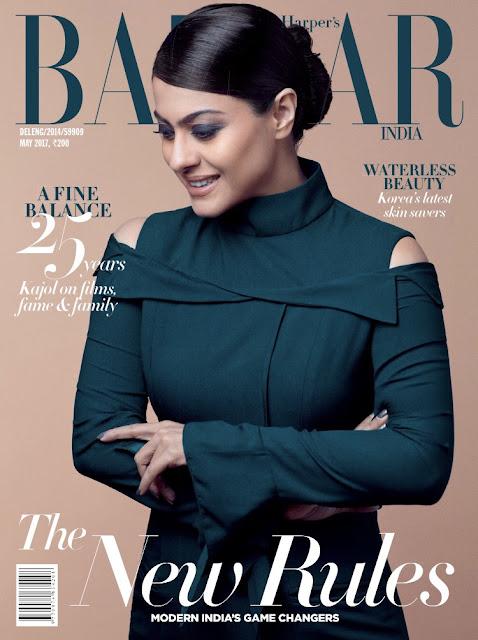 Kajol Harper's Bazaar May 2017 Photoshoot