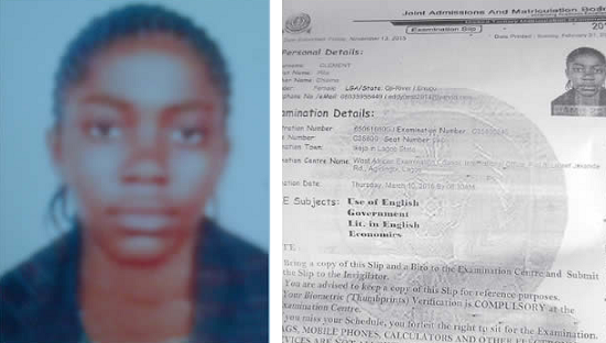 Photo: 15-Year-Old Girl, Student Kidnapped On Her Way To Write UTME In Lagos