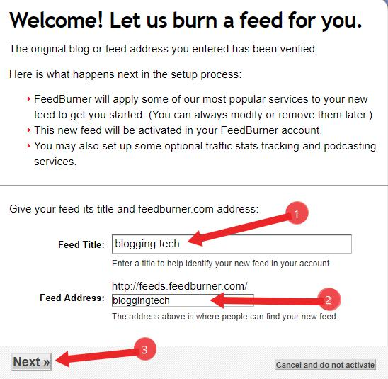Blog me Feedburner Free Email delivery service kaise use kare