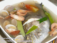 Seafood Tinowa, Towang Danggit, Shrimps and   Clams