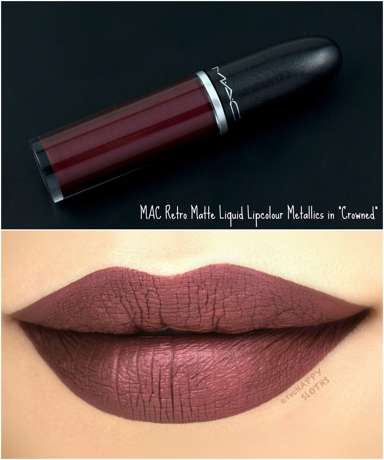 "MAC Retro Matte Liquid Lipcolor Metallics in ""Crowned"": Review and Swatches"