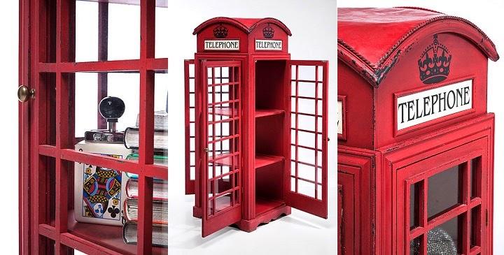 Marzua Una vitrina con forma de cabina londinense