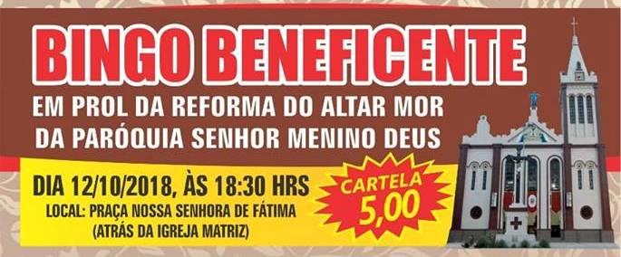 O evento será na Praça Nossa Senhora de Fátima (por trás da igreja matriz). A  arrecadação do evento será destinada a reforma do altar mor do santuário ... e285ca7541c61