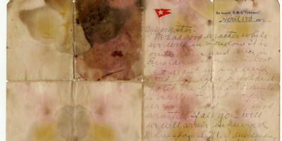 The Titanic victim's letter is sold for a record $ 166,000