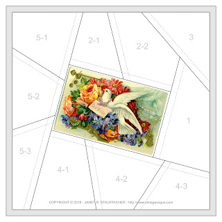 Best Wishes Crazy Quilt Block from Vintage Vogue