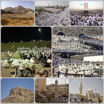 Jabal Tsur, Padang Arafah, Jabal Rahman, Muzdalifah, Mina, Jabal Nur, Masjid Jin, Ja'ronah