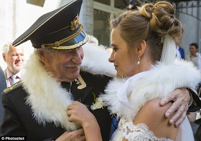 84 yr old Russian actor marries 24 yr old!
