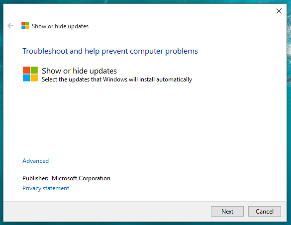 show-or-hide-updates-windows-10