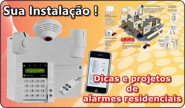 foto de um sistema de central de alarme residencial