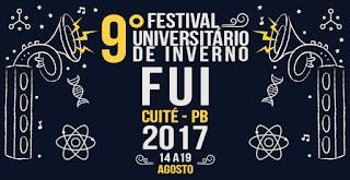 Inscrições para monitores do 9º Festival Universitário de Inverno de Cuité vão até essa quarta (19)