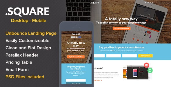 Responsive App Landing Page
