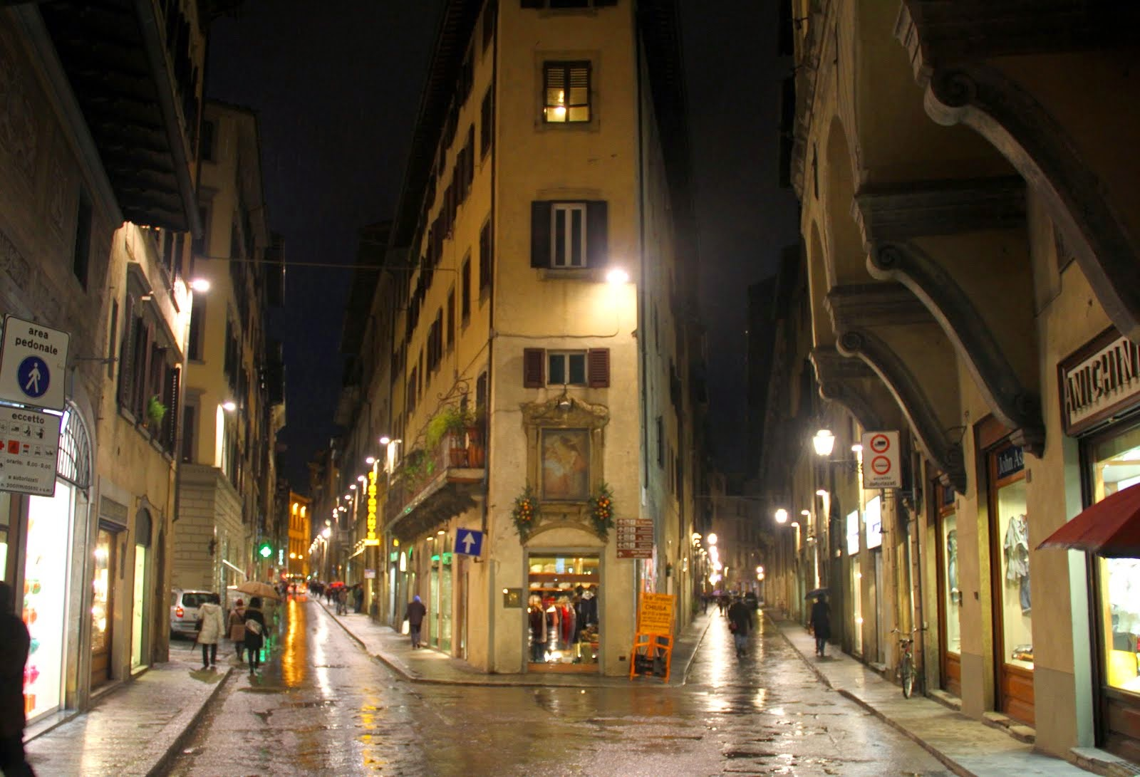 Walking Florence at Night