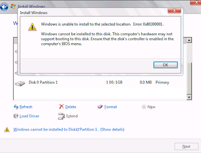 Cara Ampuh Mengatasi Windows Cannot Be Installed To This Disk, The Selected Disk Is Of The GPT Partition Style