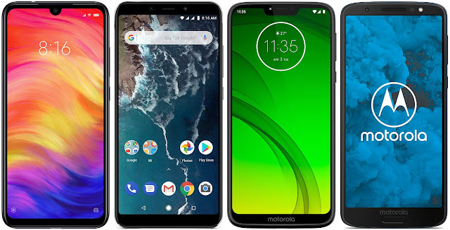 Xiaomi Redmi Note 7 32G vs Xiaomi Mi A2 64G vs Motorola Moto G7 Power vs Motorola Moto G6 32 GB