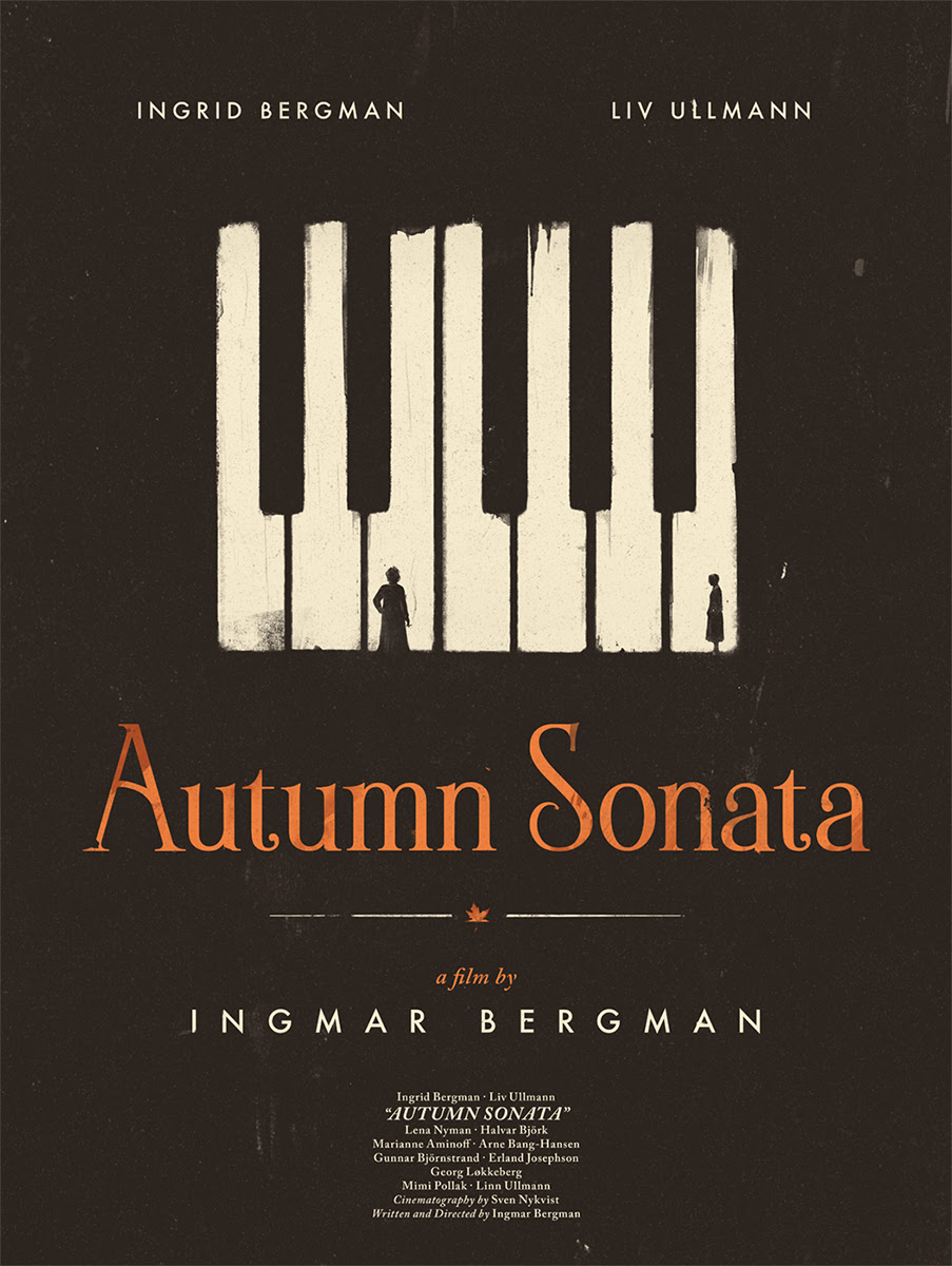 INSIDE THE ROCK POSTER FRAME BLOG: Ingmar Bergman Persona & Autumn Sonata  Posters Release By Black Dragon Press