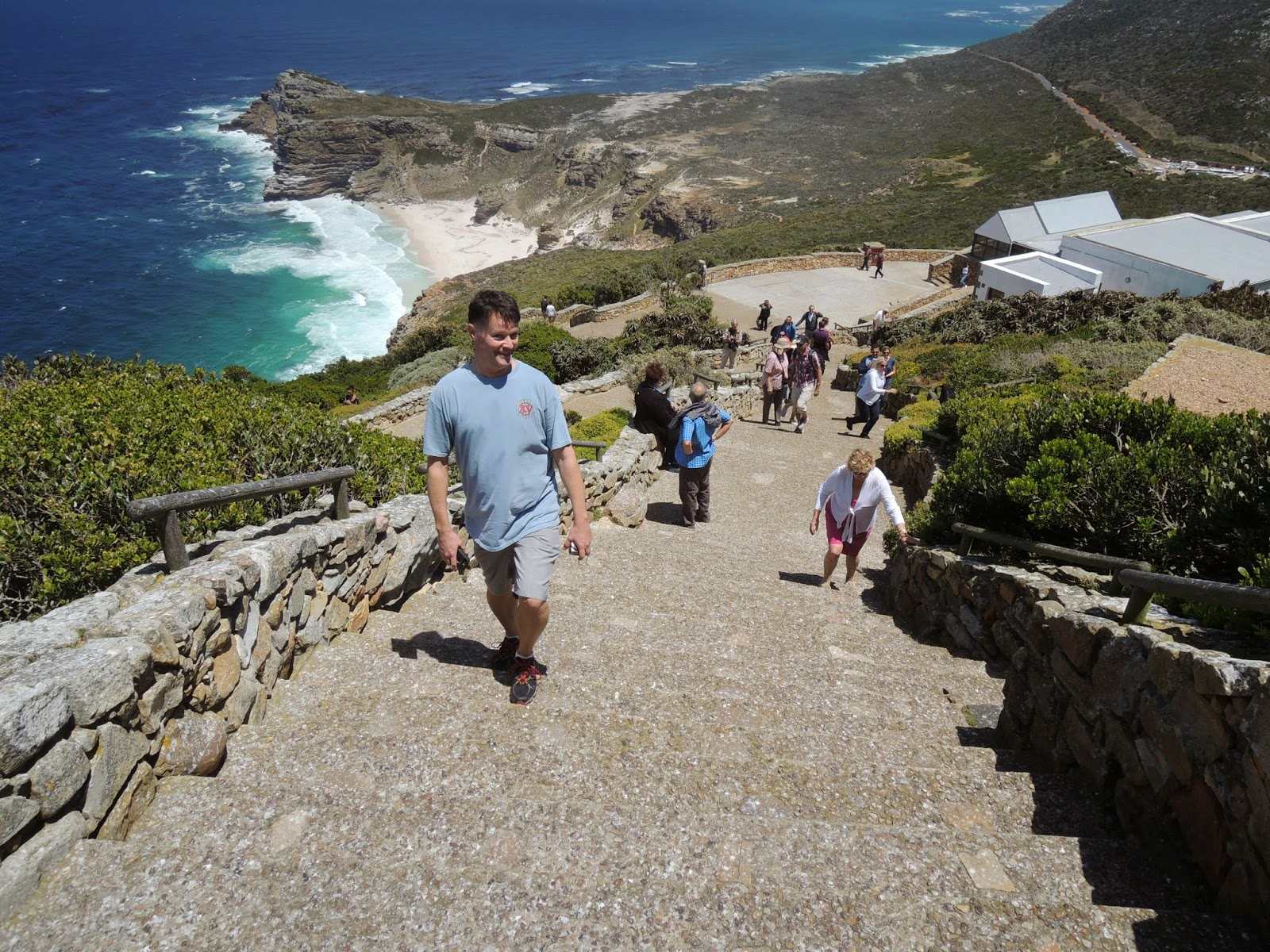 cape point lighthouse joe trying not to break a sweat it s hot
