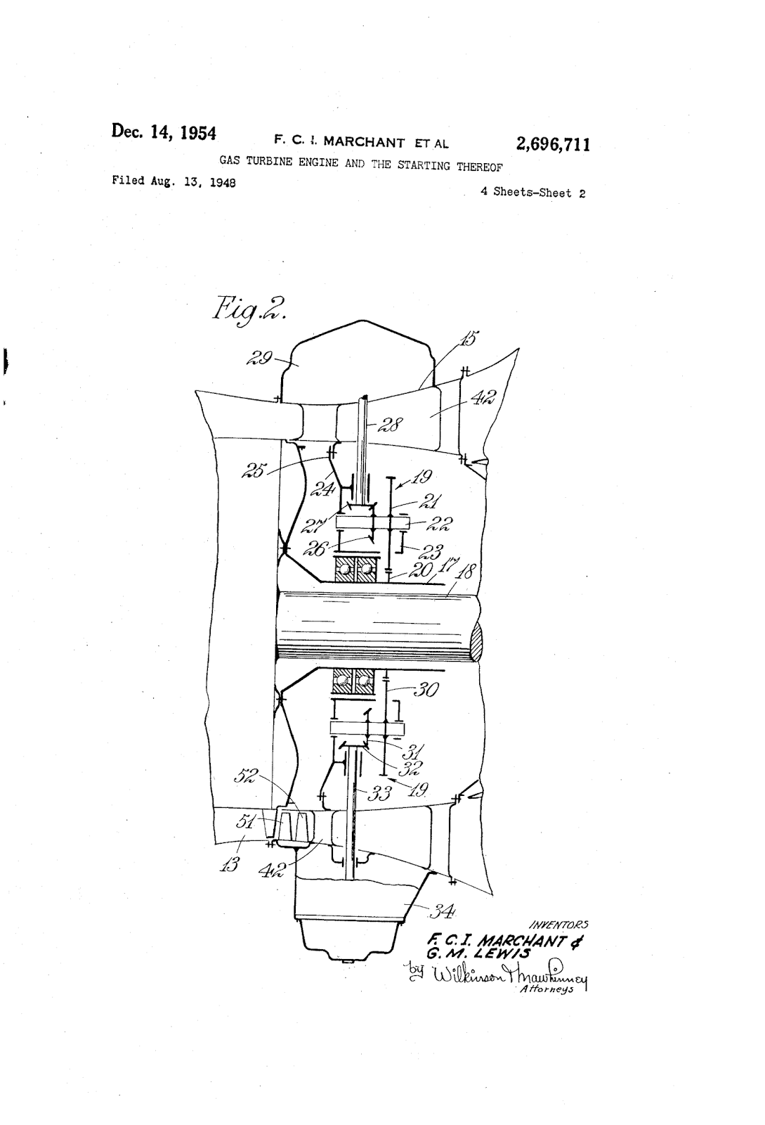 Gas Turbine Engine And The Starting Thereof Auto Part