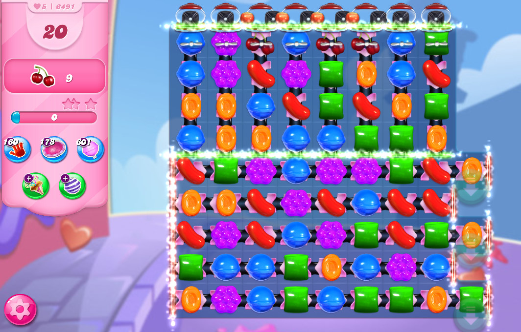 Candy Crush Saga level 6491