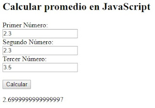 Calcular promedio en JavaScript