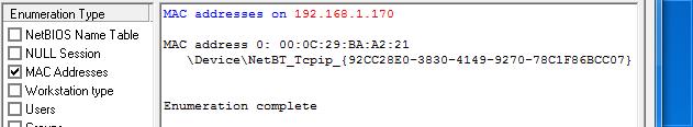 Hướng dẫn scan Mac Address