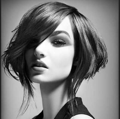 model rambut edgy bob untuk muka bulat