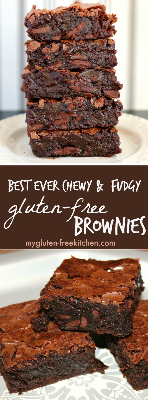 BEST EVER CHEWY FUDGY GLUTEN-FREE BROWNIES  #fudgy #glutenfree #brownies #dessert