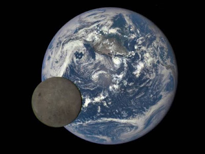Earth and moon. DSCOVR. NASA
