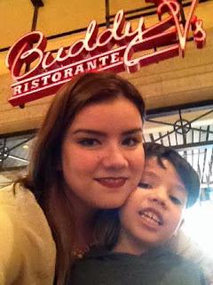 selfie em restaurante