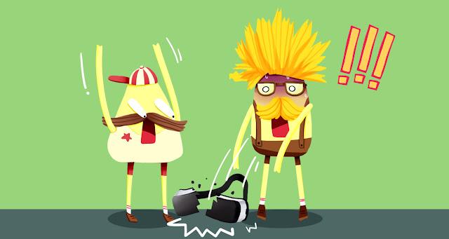 Hello Yellow Friends Comic - Virtual Reality.