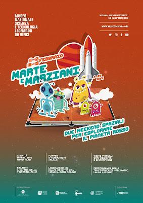 Alla scoperta di Marte e Marziani 11, 12 e 18, 19 febbraio Milano