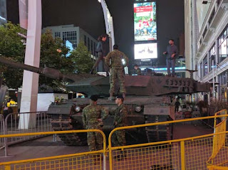 Tank In Dundas Square.