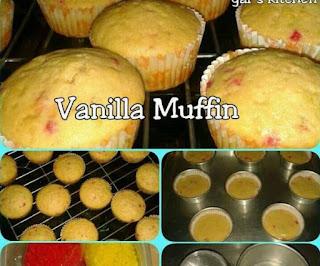 Cara Buat Vanilla Muffin